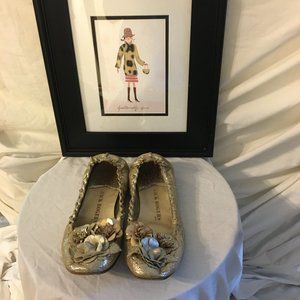 """Jack Rogers """"Tansy"""" Gold Ballet Flat 9"""